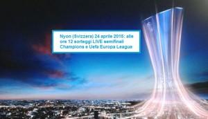 SORTEGGI SEMIFINALI CHAMPIONS EUROPA LEAGUE 24 APRILE 2015 LIVE