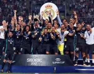 Tabellino Real Madrid Manchester United 2-1 Supercoppa Uefa 8 agosto 2017