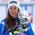 Sofia Goggia conquista ad Are, in Svezia, la 3^ Coppa del Mondo di discesa libera femminile nella storia dello sci alpino italiano, dopo i due successi di Isolde Kostner. (Foto Goggia: credits to archivio www.fisi.org)