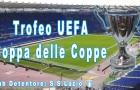 Albo d'oro Coppa delle Coppe Uefa (Immagine: stadio Olimpico Roma e trofeo by Sandro Sanna e NinoArts)