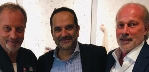 Foto: da sinistra, Mr Renzo Ulivieri, Matteo Marani e il dirigente sportivo Walter Sabatini. (Fonte: credits to official page https://twitter.com/matteomarani)