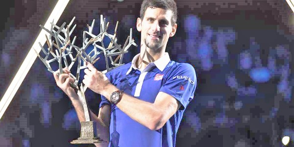 Il record di Novak Djokovic / 30 trofei Masters 1000 e il titolo del Golden Masters conquistati dal tennista serbo rispetto al totale dei 99 eventi specifici, organizzati dall'Atp nel circuito dal 2009 al 2019. Nessuno come Novak. (Fonte foto: official Facebook page Atp Parigi Bercy)