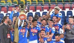 Trionfo del Napoli nella finale di Coppa Italia 2019-20. (Fonte foto: https://www.facebook.com/SSCNapoli)