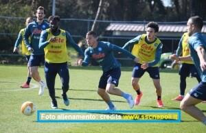 Calcio Napoli, allenamento 23 febbraio 2021: