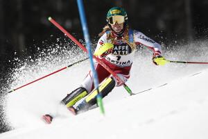 Katharina Liensberger (Austrla), neo campionessa del Mondo di slalom speciale (Fonte foto: credits @GABRIELE FACCIOTTI @Cortina2021)