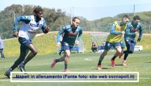 Calcio Napoli allenamento 6 aprile 2021: recuperati Ospina