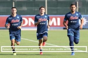 Calcio Napoli, allenamento 24 agosto 2021